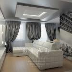 Дизайн гостиной в двухкомнатной квартире 50 кв.м
