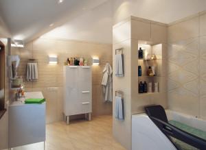 Дизайн стильной ванной комнаты