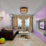 Дизайн стильной гостиной в лиловом цвете фото 2016 современные идеи
