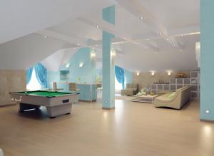 Идеи дизайна мансарды для гостей
