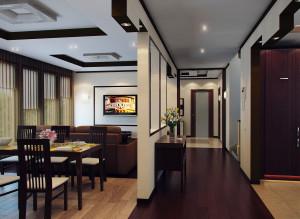 Дизайн прихожей и гостиной
