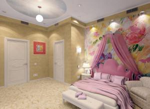 Дизайн детская комната для девочки фото