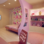 Дизайн стильной детской комнаты для девочки