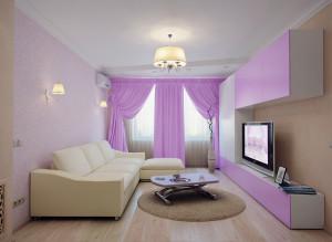 Дизайн современной гостиной в лиловом цвете фото 2016 современные идеи
