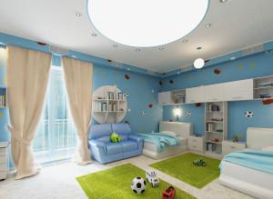Современный дизайн детской комнаты для мальчика