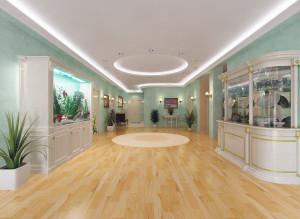 Современный дизайн большой гостиной