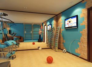 Интерьер спортивной комнаты