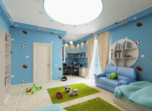 Дизайн игровой детской комнаты для мальчика