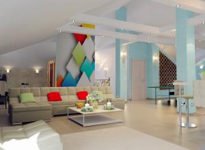 Дизайн мансарды для гостей