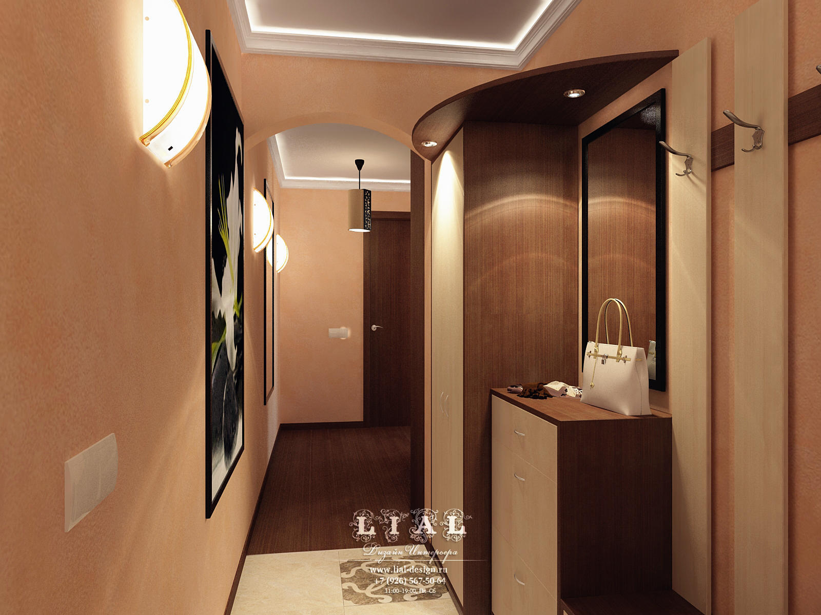 Дизайн прихожей в трехкомнатной квартире: фото 2016