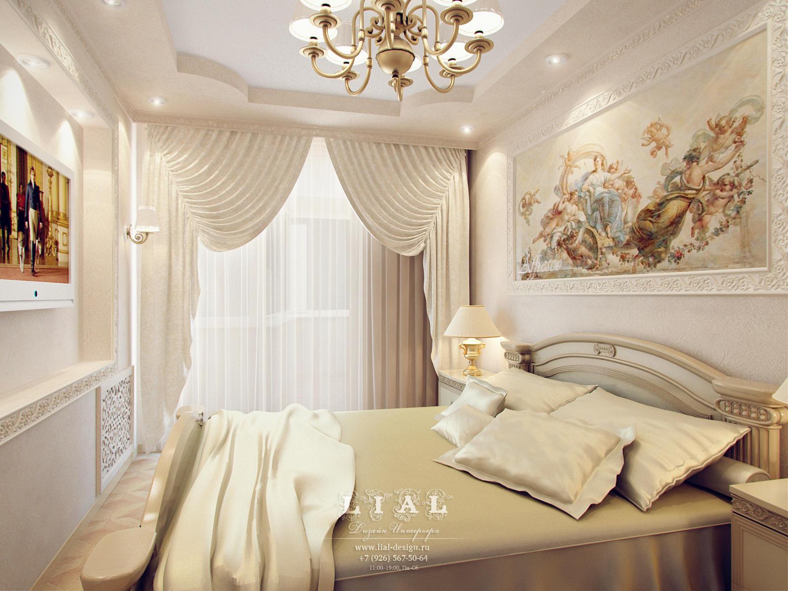 Дизайн интерьера бежевой спальни: фото интерьера 2016