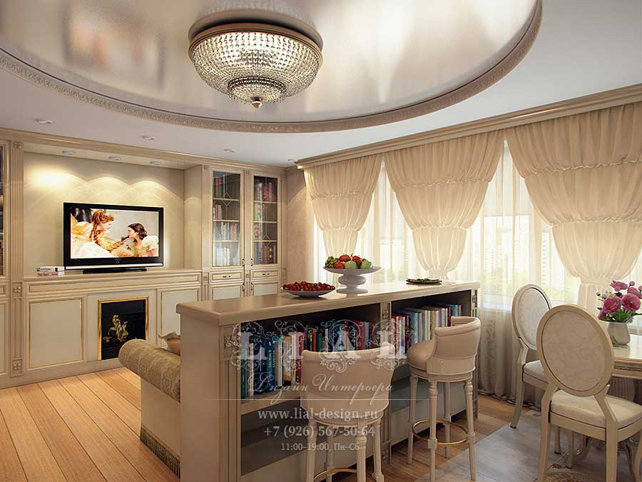 Дизайн кухни-гостиной: современные идеи